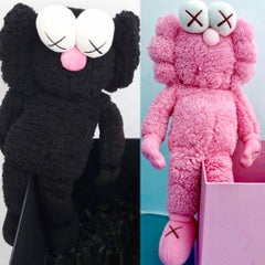 KAWS BFF Plush: set of 2 (KAWS pink KAWS black BFF)