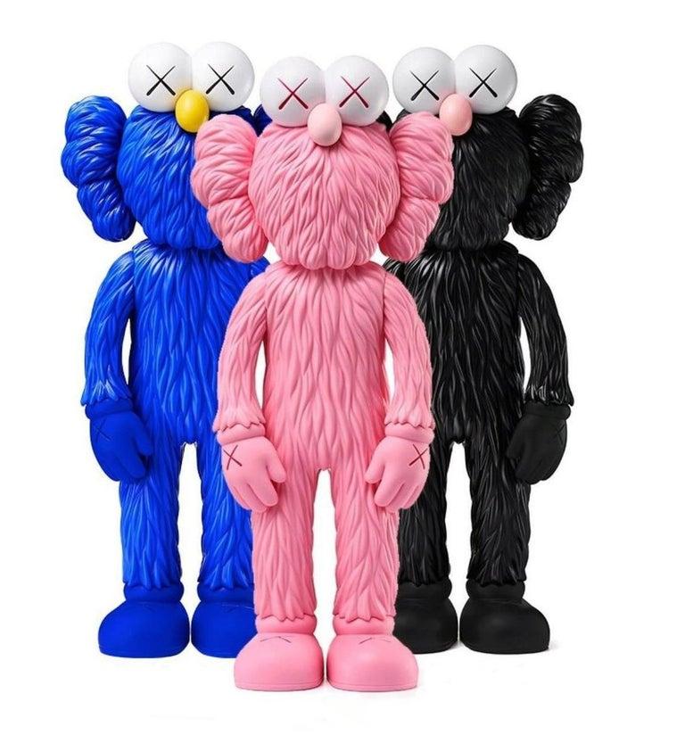 KAWS BFF (Set of 3, Kaws Pink, Black, Blue BFF) - Print by KAWS