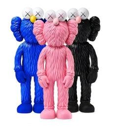 KAWS BFF set of 3 works (KAWS Pink, Black, Blue BFF)