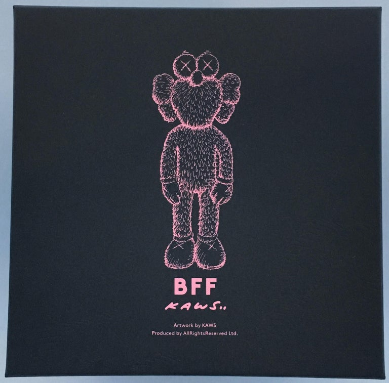 KAWS Black BFF Plush (Kaws BFF plush limited edition) For Sale 2