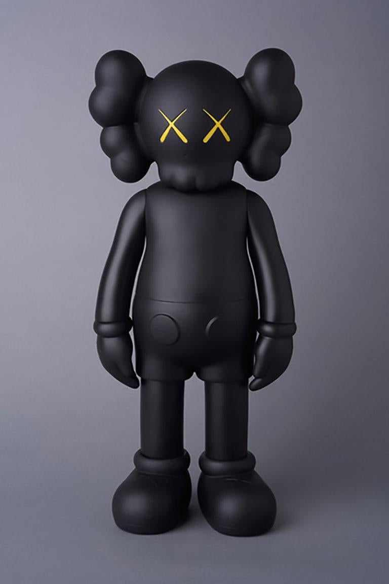KAWS Companion, Black Flayed & Black full body 2016 (set of 2 individual pieces). Each new and sealed in original packaging. Published by Medicom Japan in conjunction with the exhibition, KAWS: Where The End Starts at the Modern Art Museum of Fort