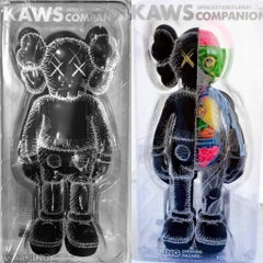 KAWS Black Companion 2016: set of 2 works (KAWS Companion black)