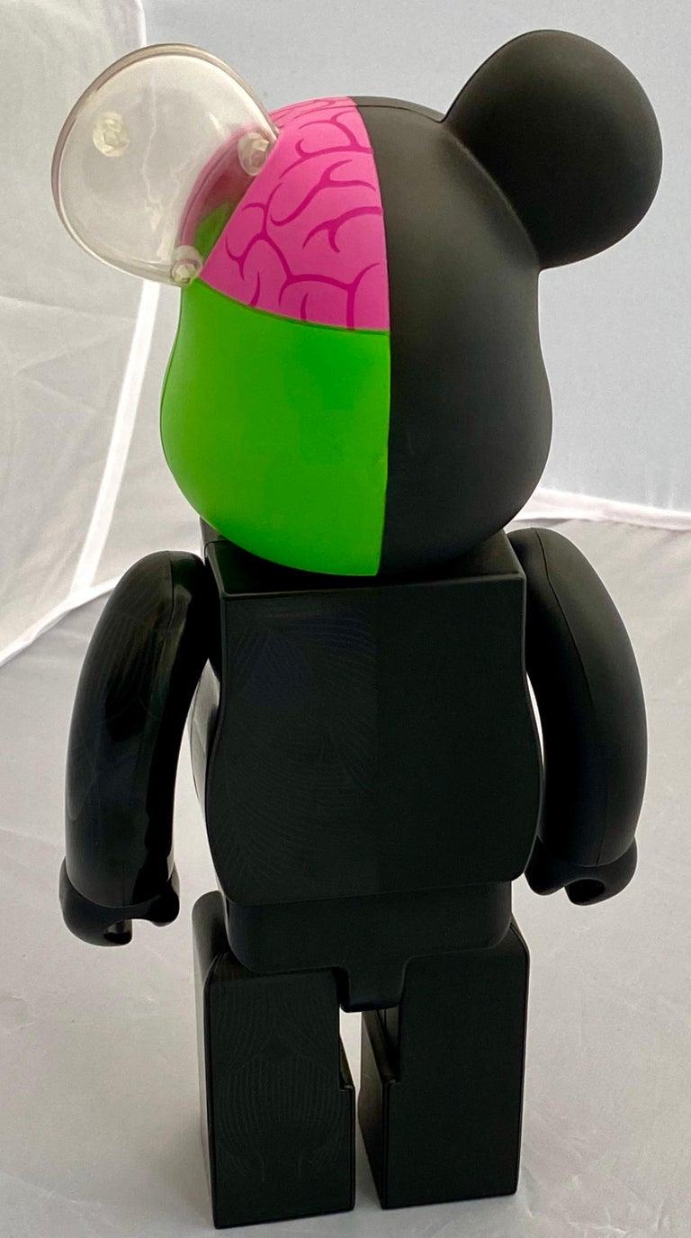 KAWS Black Dissected 400% Bearbrick Companion (KAWS black dissected Be@rbrick)  For Sale 2