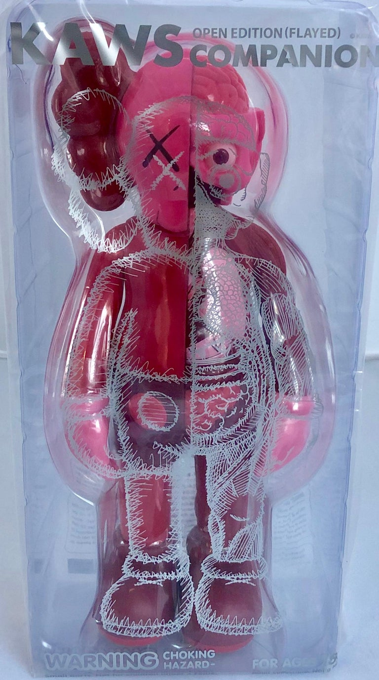 KAWS Red Blush Companion 2016 (KAWS Flayed): New and sealed in its original packaging. Published by Medicom Japan in conjunction with the exhibition, KAWS: Where The End Starts at the Modern Art Museum of Fort Worth. ThIs figurine has since well