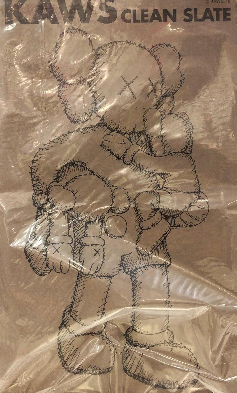 KAWS Clean Slate Companion (KAWS brown clean slate) For Sale 3