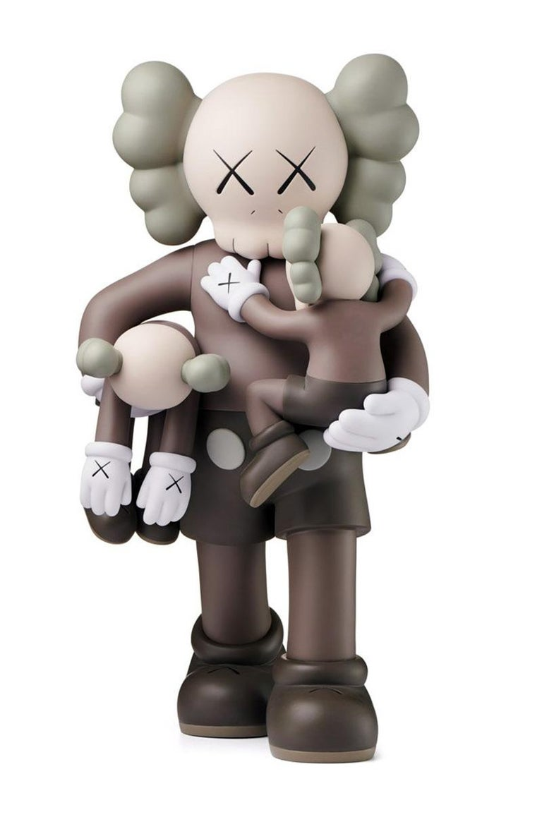 KAWS Clean Slate (Brown), new & unopened in its original packaging.  A well-received work and variation of KAWS' large scale Clean Slate sculpture - a key highlight of KAWS' major museum exhibition KAWS: WHERE THE END STARTS where it was displayed