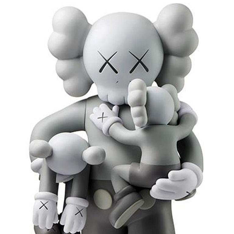 KAWS Clean Slate Grey (KAWS grey Companion) - Pop Art Sculpture by KAWS