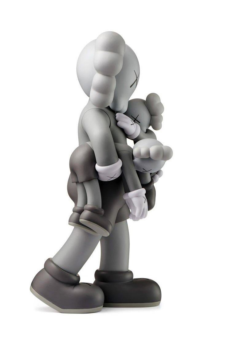 KAWS Clean Slate (Grey), new & unopened in its original packaging.  A well-received work and variation of KAWS' large scale Clean Slate sculpture - a key highlight of KAWS' major museum exhibition KAWS: WHERE THE END STARTS where it was displayed