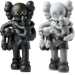 KAWS Clean Slate set of 2 Black (KAWS black & grey companion)