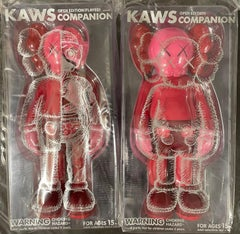 KAWS Companion Flayed Edition & Companion Edition Vinyl Figure Blush Set Sealed