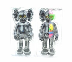 KAWS Companions, Set of 2, Black, Full and Flayed (2016)