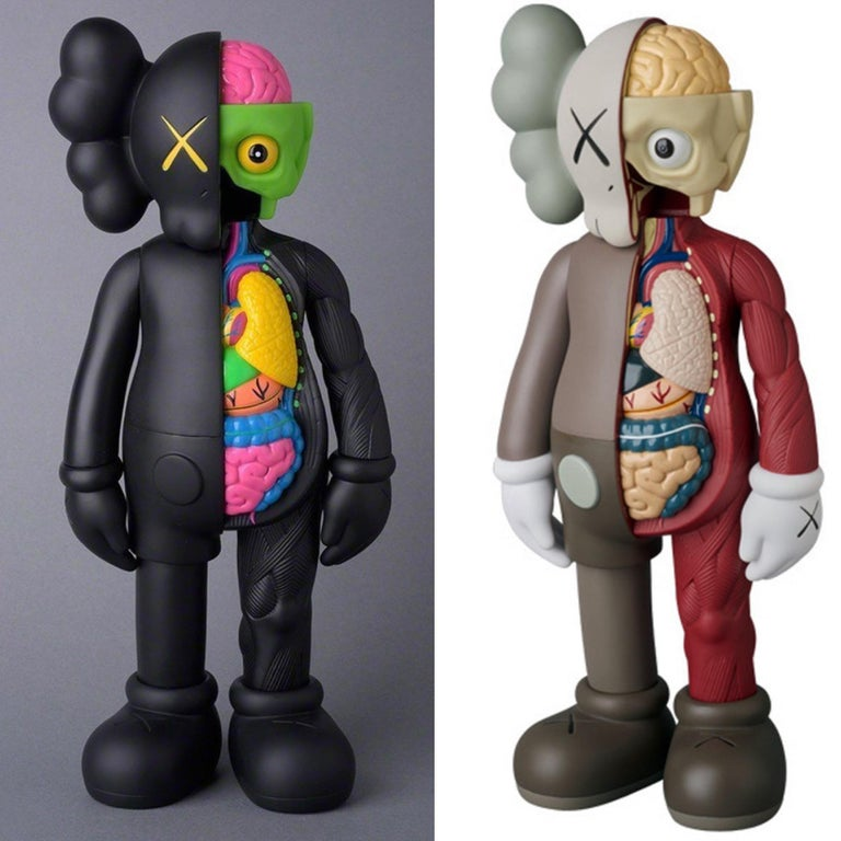KAWS Flayed Companions 2016: set of 2 (KAWS brown black flayed) - Sculpture by KAWS