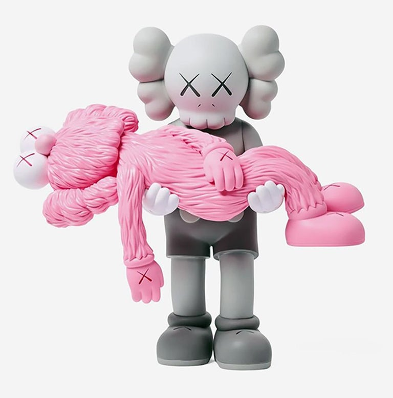 KAWS GONE (Grey), new & unopened in its original packaging.  A well-received work and variation of KAWS' large scale GONE sculpture - a key highlight of KAWS' recent exhibition, 'KAWS: Companionship in the Age of Loneliness' at National Gallery of