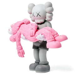 KAWS GONE Grey (KAWS grey & pink gone companion)
