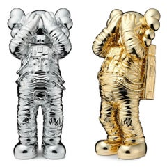 KAWS Holiday SPACE: set of 2 works (KAWS silver gold space)