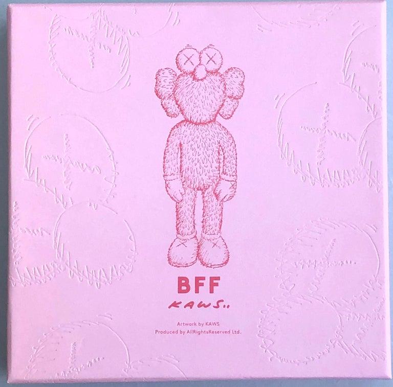 KAWS Pink BFF Plush (Kaws BFF plush limited edition) For Sale 5