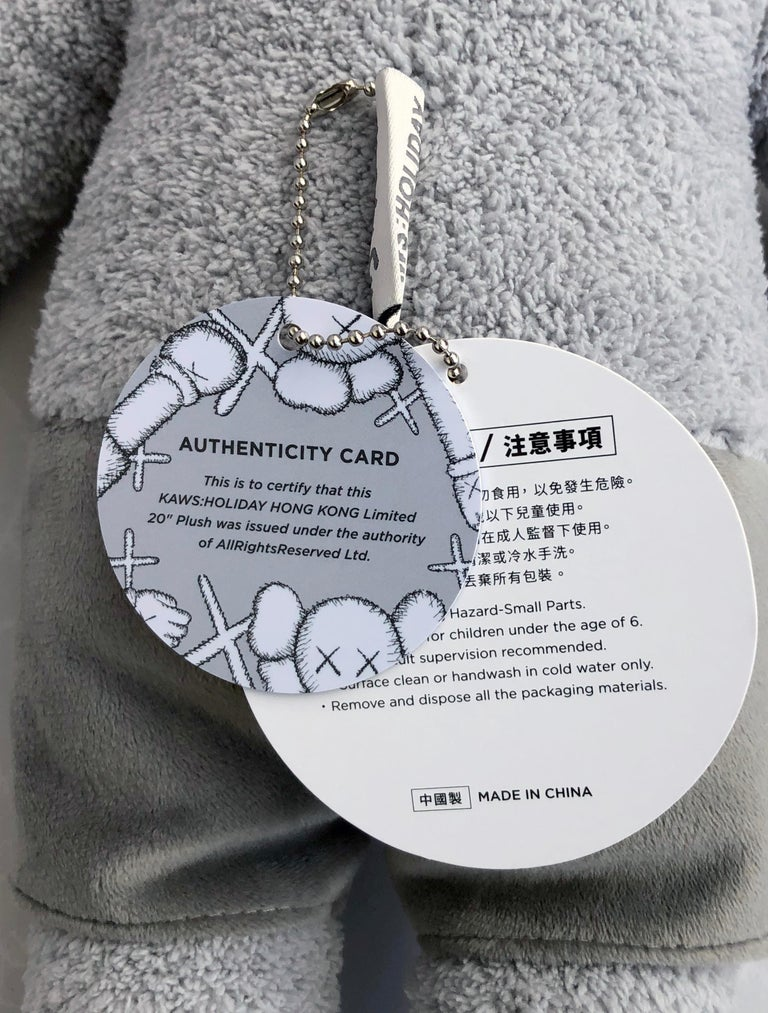 KAWS Plush Companion (KAWS plush grey)  For Sale 2