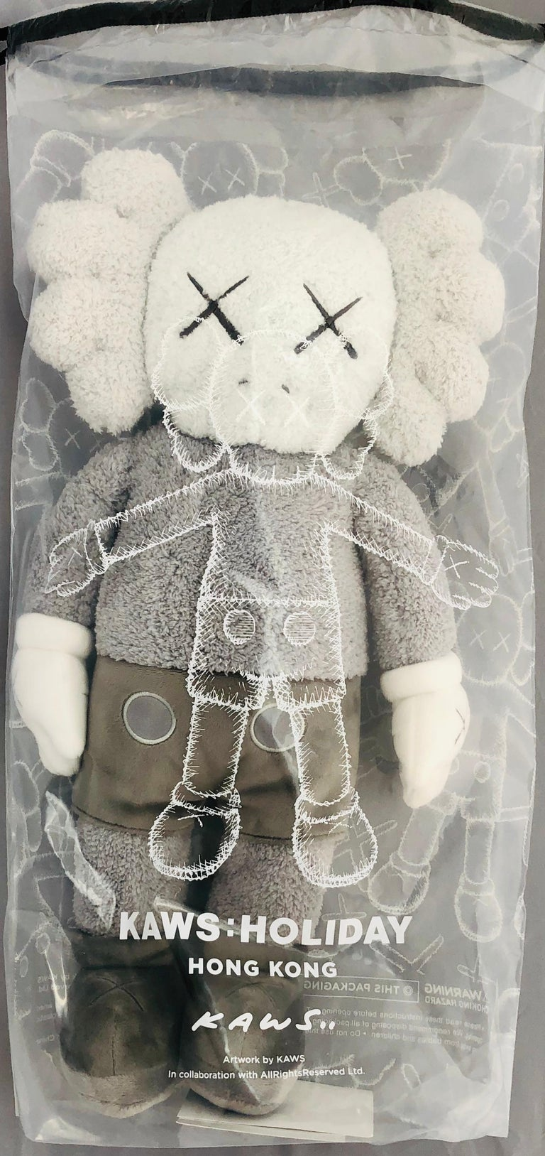 KAWS Plush Companion (KAWS plush grey)  For Sale 3