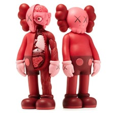 KAWS Red Blush companions (complete set of 2 works KAWS Companion)