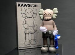 'KAWS SHARE, 20' Open Edition Vinyl Art Toy, Brown/Blue
