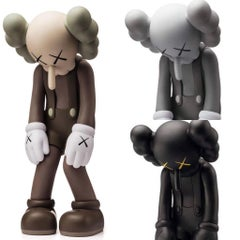 KAWS Small Lie complete set of 3 (KAWS brown, black & grey companions)