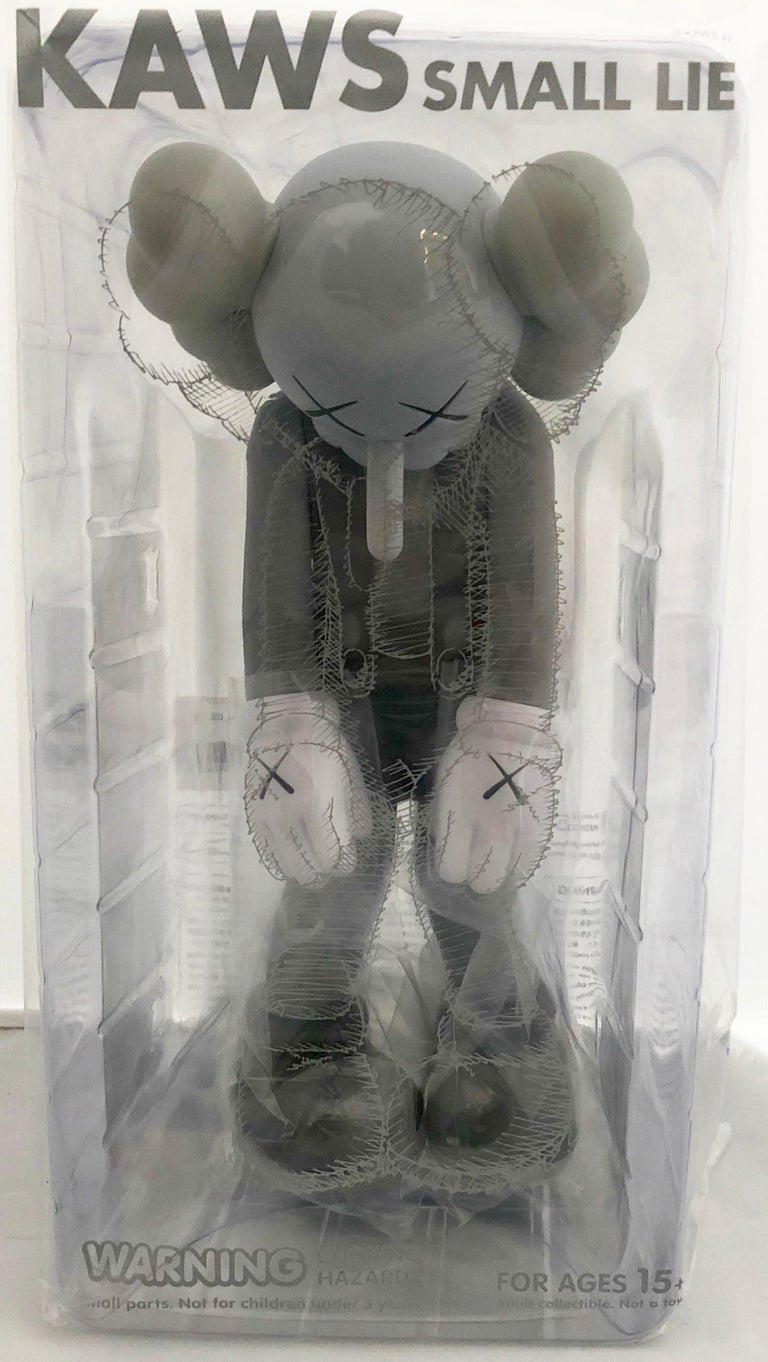 KAWS Small Lie Grey (KAWS Small Lie Companion) - Pop Art Sculpture by KAWS