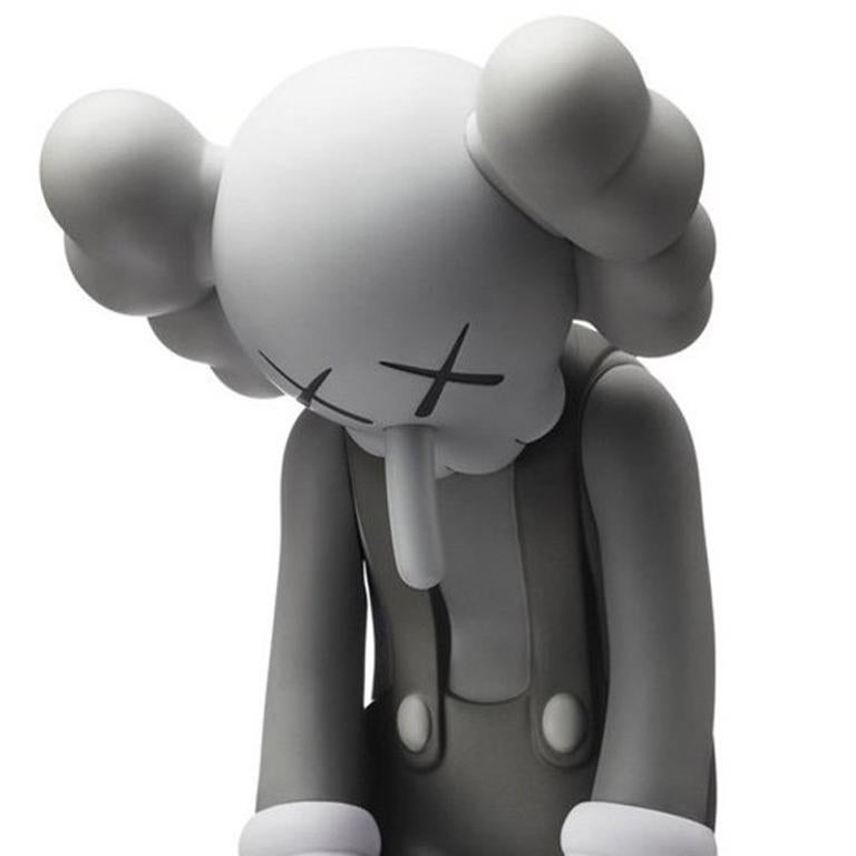 KAWS Small Lie Grey (KAWS Small Lie Companion) - Gray Figurative Sculpture by KAWS