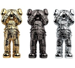 KAWS SPACE HOLIDAY SET GOLD, BLACK, SILVER Full set Contemporary Street Art
