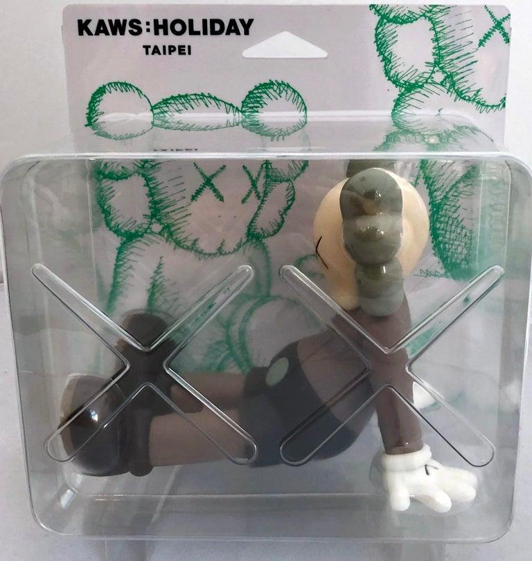 KAWS Taipei Holiday Companion Brown (KAWS Brown Companion)  - Gray Figurative Sculpture by KAWS