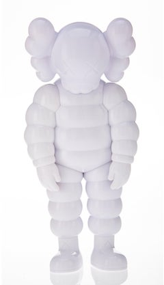 """KAWS """"What Party"""" Brooklyn Museum White LIMITED EDITION Sculpture Street Art"""