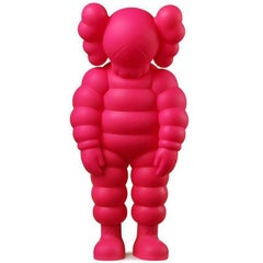 KAWS, What Party - Chum in Pink, Painted Cast Vinyl Sculpture, 2020