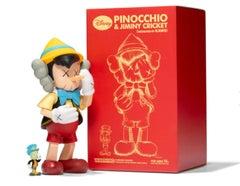 KAWS X Disney Pinocchio & Jiminy Cricket Set Sculpture
