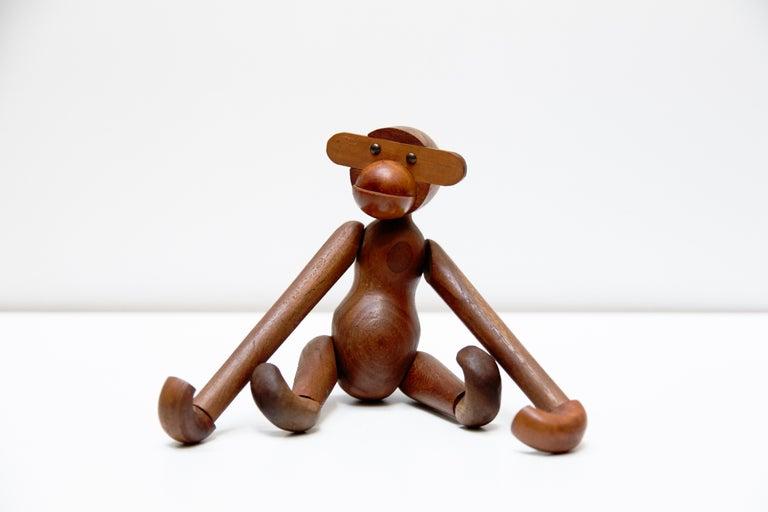 Mid-20th Century Kay Bojensen Denmark Early Edition Teak Wood Monkey, circa 1960 For Sale