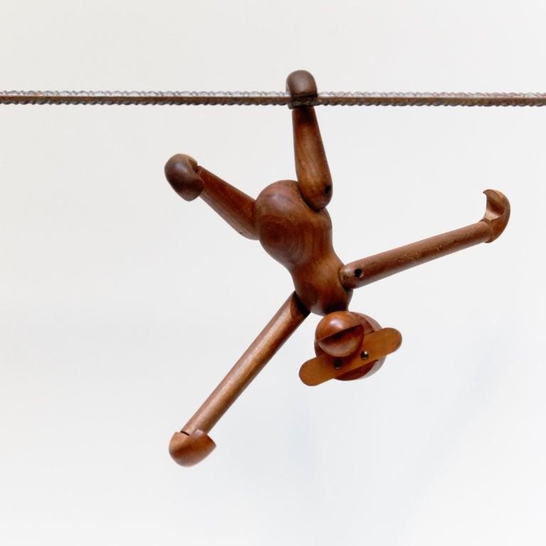 Kay Bojensen Denmark Early Edition Teak Wood Monkey, circa 1960 For Sale 2