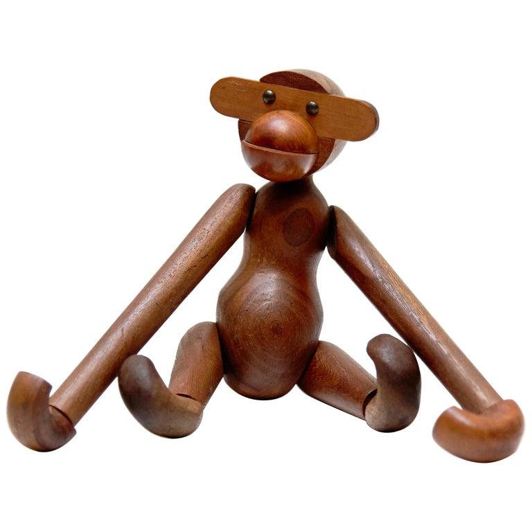 Kay Bojensen Denmark Early Edition Teak Wood Monkey, circa 1960 For Sale