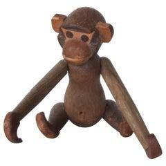 Kay Bojesen Danish Style Teak Wood Jointed Flexible Toy Baby Monkey 1960s Japan