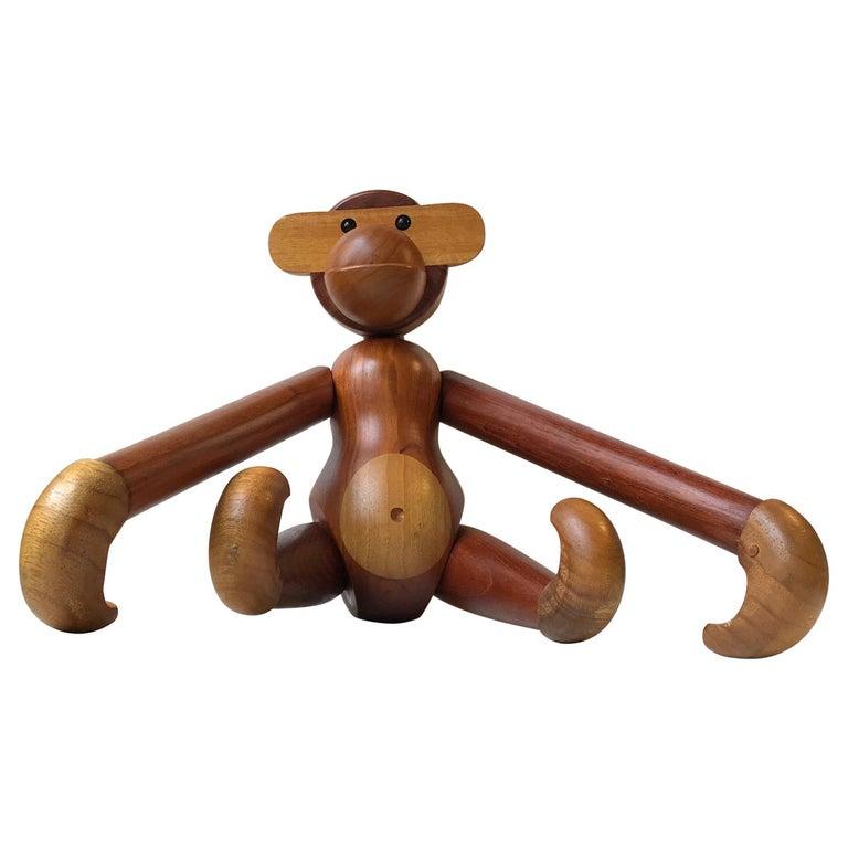 Kay Bojesen Large Vintage Monkey In Teak And Limba Denmark