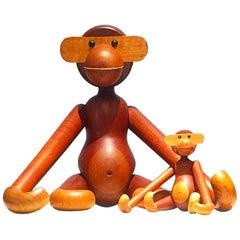 Kay Bojesen Medium to Large Scale Teak Monkey, Signed
