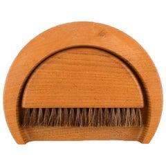 Kay Bojesen, Sweeping Tray Set Consisting of Sweep Tray and Brush of Wood