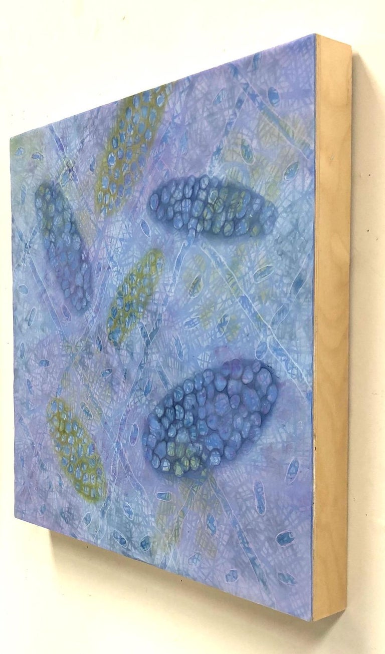 Bio Patterns 8 - Blue Abstract Painting by Kay Hartung