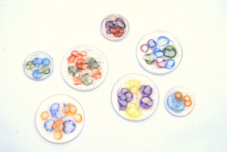 Kay Hartung Abstract Painting - Cell Samples Grouping 1