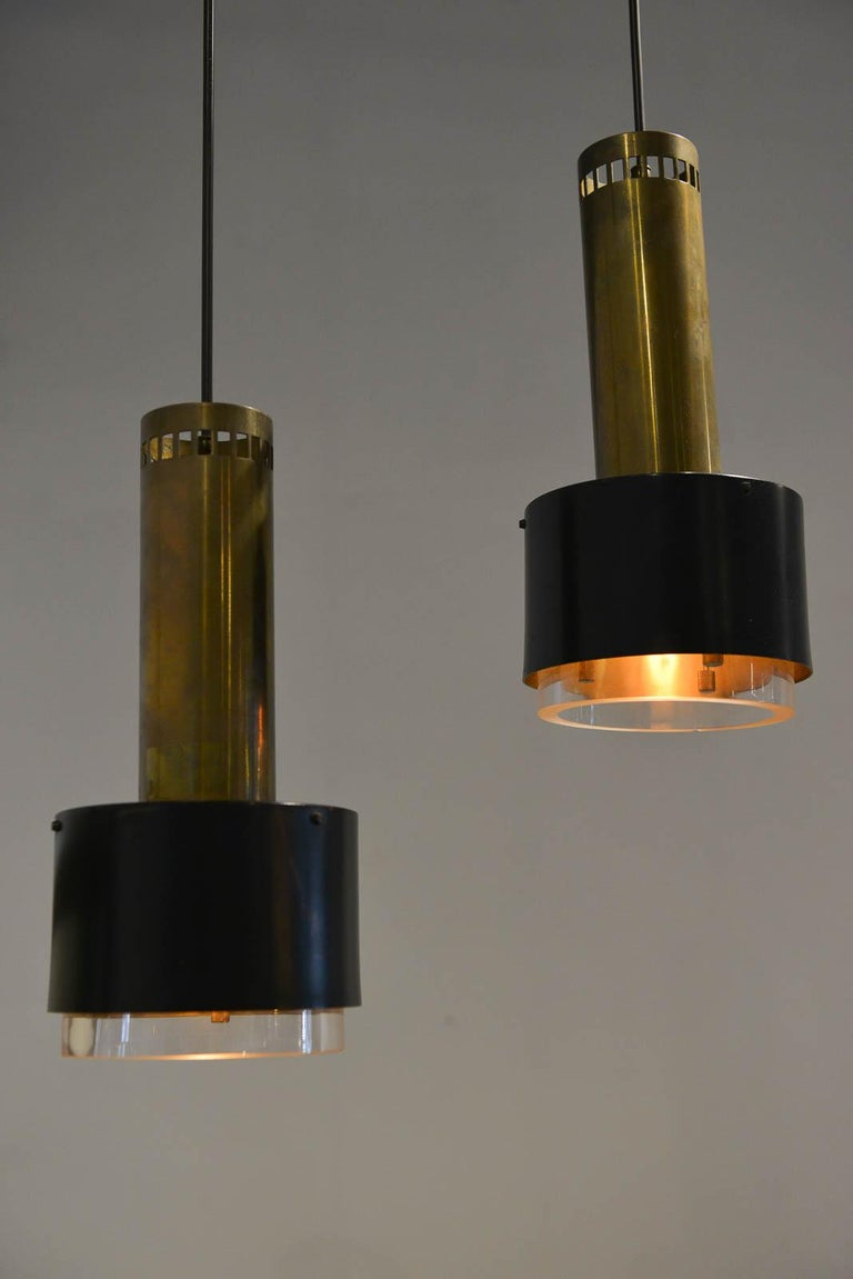 Mid-Century Modern Kay Korbing for Lyfa Denmark Pendant Lights, circa 1960 For Sale