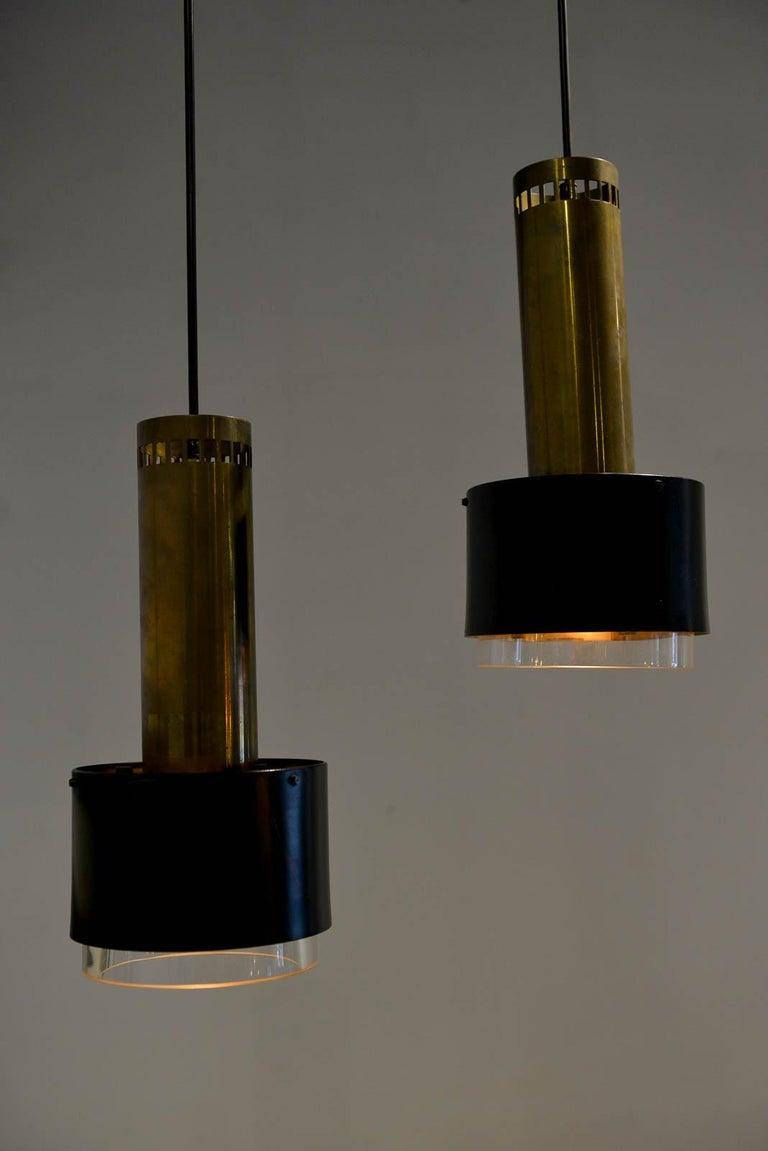 Danish Kay Korbing for Lyfa Denmark Pendant Lights, circa 1960 For Sale
