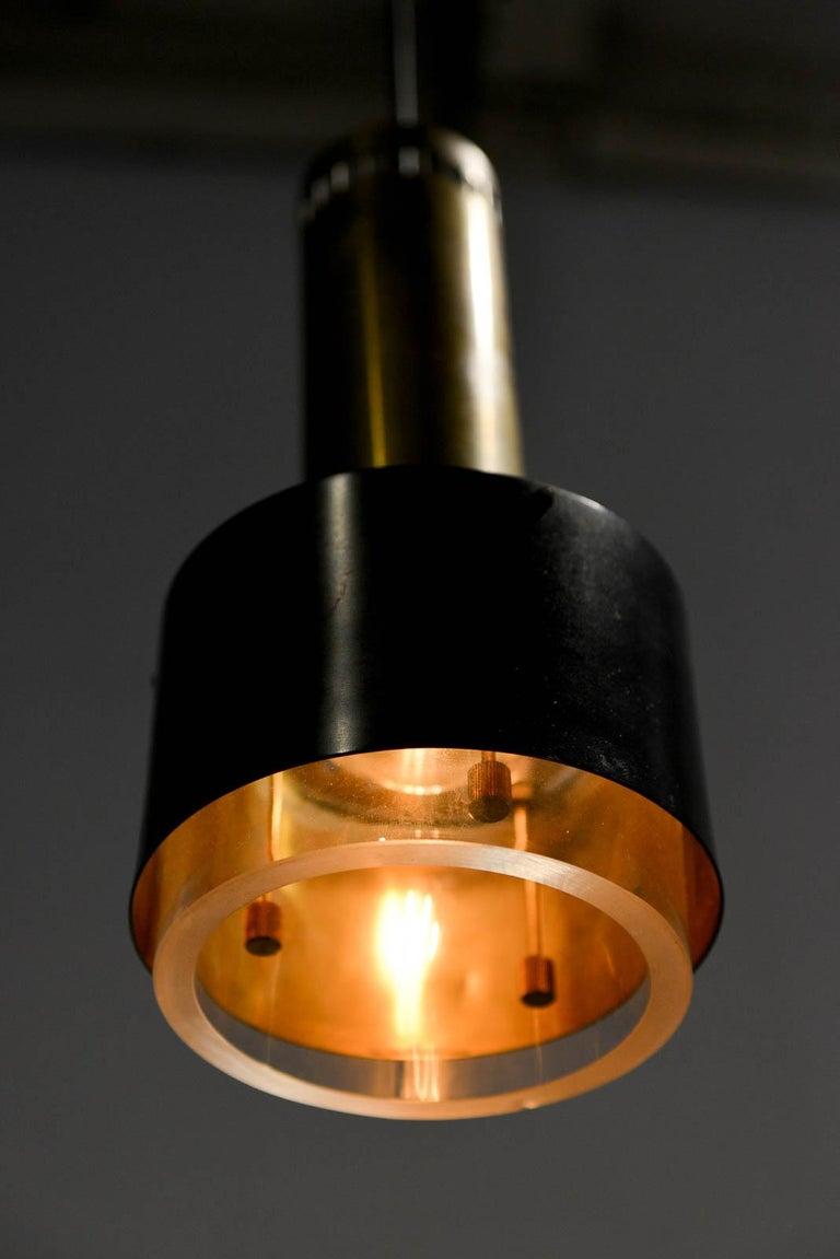 Brass Kay Korbing for Lyfa Denmark Pendant Lights, circa 1960 For Sale