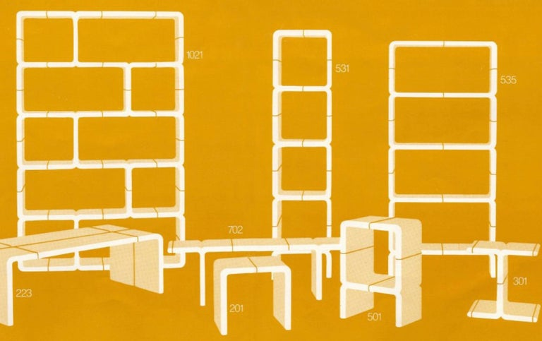 Kay Leroy Ruggles Umbo Side Table Modular Shelf, Directional, Ivory Cream, 1972 For Sale 2