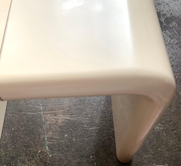Kay Leroy Ruggles umbo side table modular shelf, Directional, ivory cream, 1972  UMBO was published in New York magazine on September 25, 1972 and became a huge hit for Directional (although the patent was still pending at the time). Directional