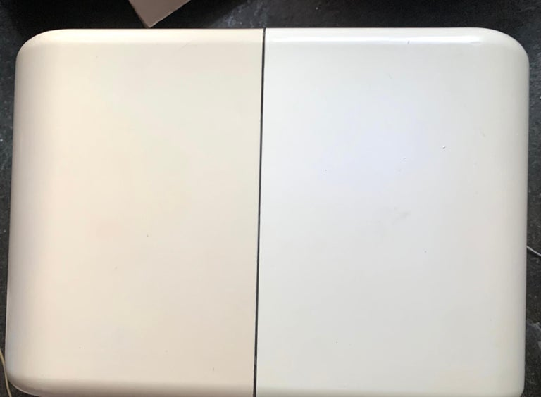 Kay Leroy Ruggles Umbo Side Table Modular Shelf, Directional, Ivory Cream, 1972 In Fair Condition For Sale In Brooklyn, NY