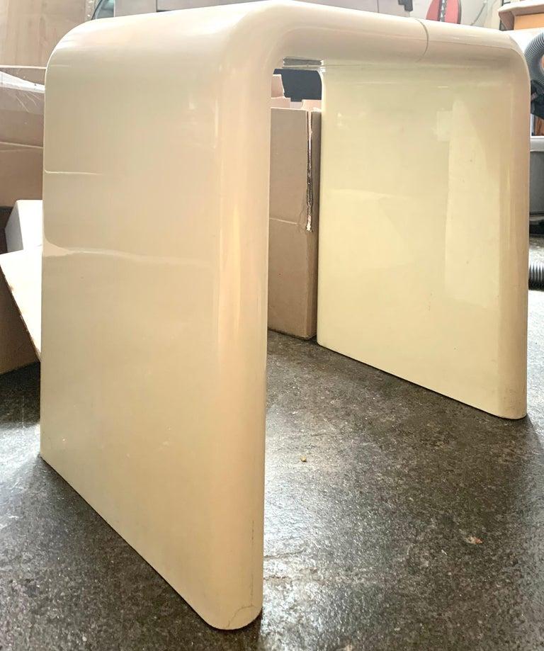 Mid-Century Modern Kay Leroy Ruggles Umbo Side Table Modular Shelf, Directional, Ivory Cream, 1972 For Sale
