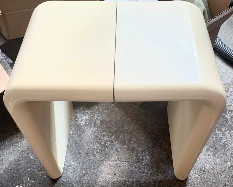 American Kay Leroy Ruggles Umbo Side Table Modular Shelf, Directional, Ivory Cream, 1972 For Sale