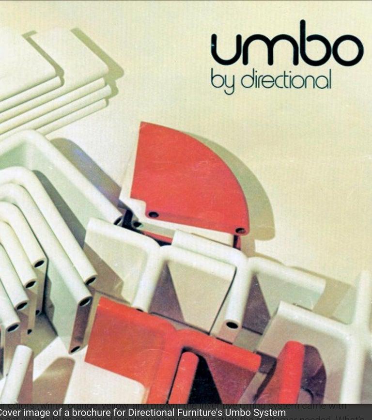 20th Century Kay Leroy Ruggles Umbo Side Table Modular Shelf, Directional, Ivory Cream, 1972 For Sale